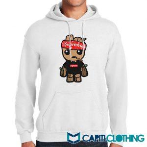 Supreme Hat Parody X Baby Groot Hoodie