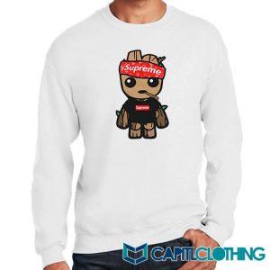 Supreme Hat Parody X Baby Groot Sweatshirt