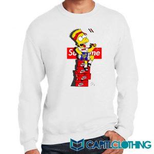 Bart Simpson X Supreme Sneaker Sweatshirt