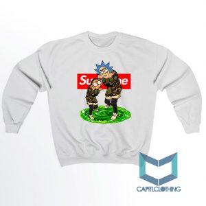 Rick Morty X Bape X Supreme Sweatshirt