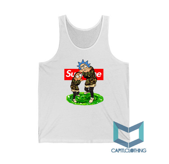 Rick Morty X Bape X Supreme Tank Top For Men or Women