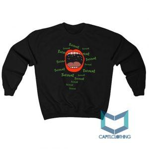 Red Lips Tatocat Band Sweatshirt On Sale