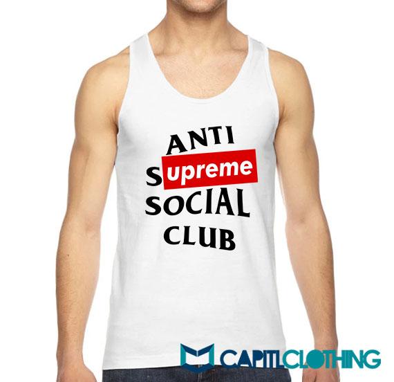 Anti Supreme Social Club ASSC Parody Tank Top