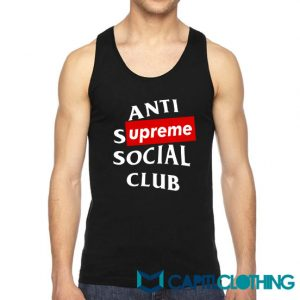 Anti Supreme Social Club ASSC Parody Tank Top