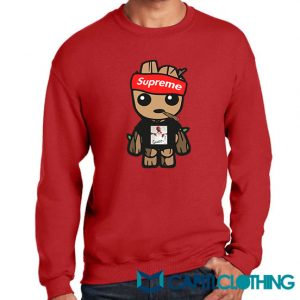 Gucci Mane X Supreme Parody X Baby Groot Sweatshirt