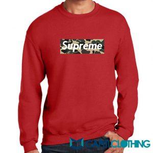 Bape Camo X Supreme Logo Parody Sweatshirt