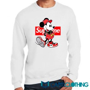 Disney Mickey Mouse X Supreme Parody Sweatshirt