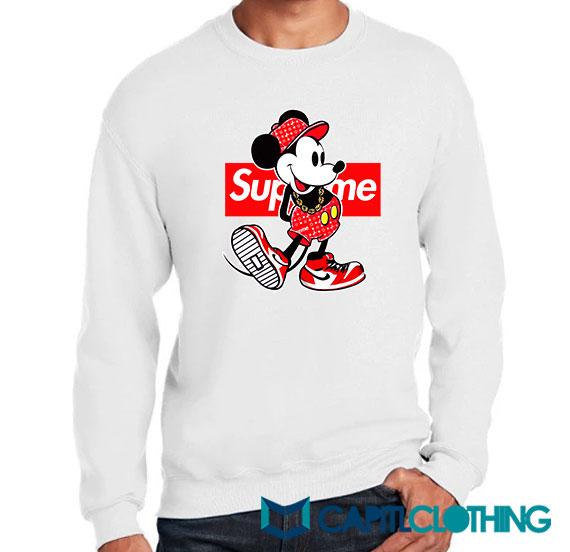 Disney Mickey Mouse X Supreme Parody Sweatshirt