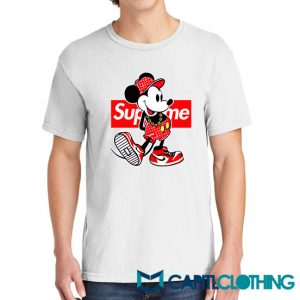 Disney Mickey Mouse X Supreme Parody Tee