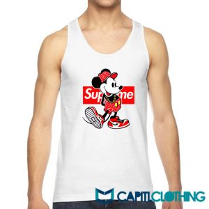 Disney Mickey Mouse X Supreme Parody Tank Top