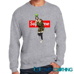 Disney Goofy Camo X Supreme Parody Sweatshirt