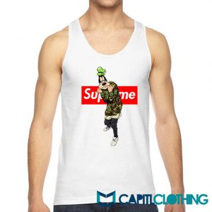 Disney Goofy Camo X Supreme Parody Tank Top