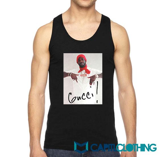 Cheap Gucci Mane X Supreme Parody Tank Top