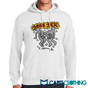 Harry Styles Keith Haring Safe Sex Hoodie