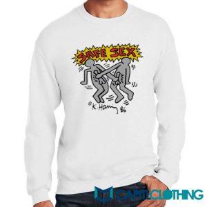 Harry Styles Keith Haring Safe Sex Sweatshirt