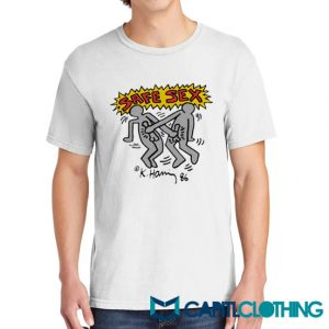 Harry Styles Keith Haring Safe Sex Tee