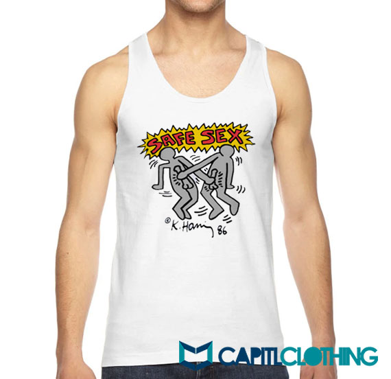 Harry Styles Keith Haring Safe Sex Tank Top