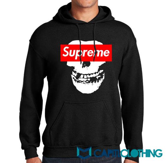 Misfit X Supreme Logo Parody Hoodie