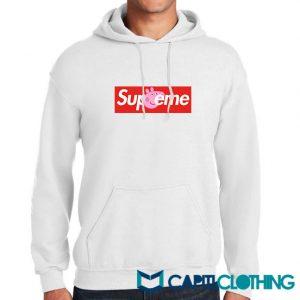Peppa Pig X Supreme Logo Parody Hoodie