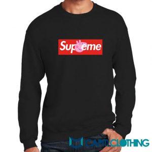 Peppa Pig X Supreme Logo Parody Sweatshirt