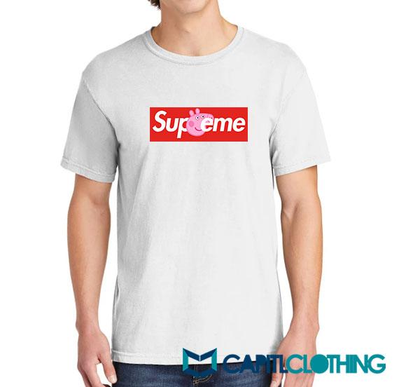 Peppa Pig X Supreme Logo Parody Tee