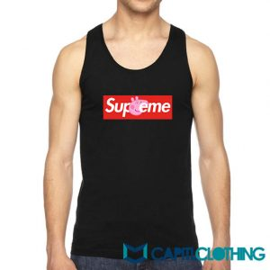 Peppa Pig X Supreme Logo Parody Tank Top