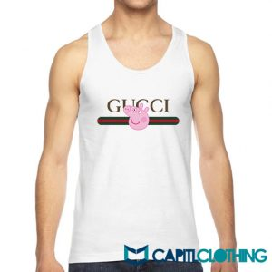 Peppa Pig X Gucci Stripe Parody Tank Top