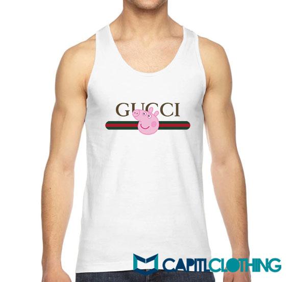 Peppa Pig X Gucci Stripe Parody Tank Top