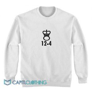 12-4 White Sweatshirt
