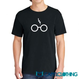 Harry Potter Glasses Scar Stone Chamber 1 Tee