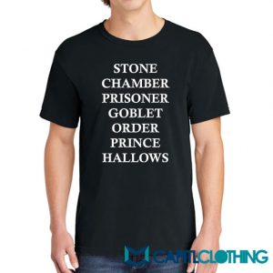Harry Potter Glasses Scar Stone Chamber 2 Tee